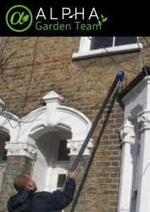 gutter cleaner in action